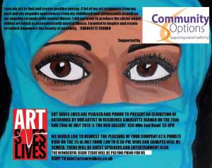 Exhibition Poster - created by Art Saves Lives  http://artsaveslives.co.uk/