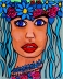 With Flowers in her Hair - By Charlotte Farhan