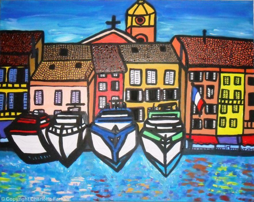 Le Vieux Port De Saint Tropez - By Charlotte Farhan