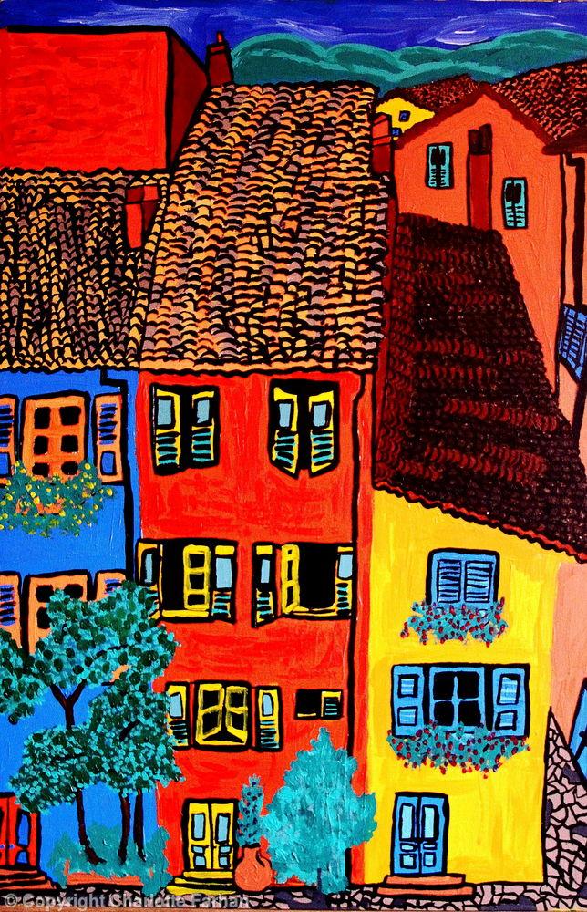 Les Maison De Ville, Grasse, Provence - By Charlotte Farhan
