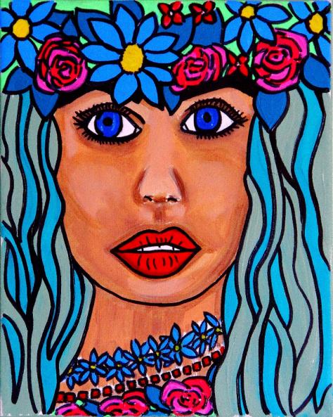 Flowers in her Hair - By Charlotte Farhan