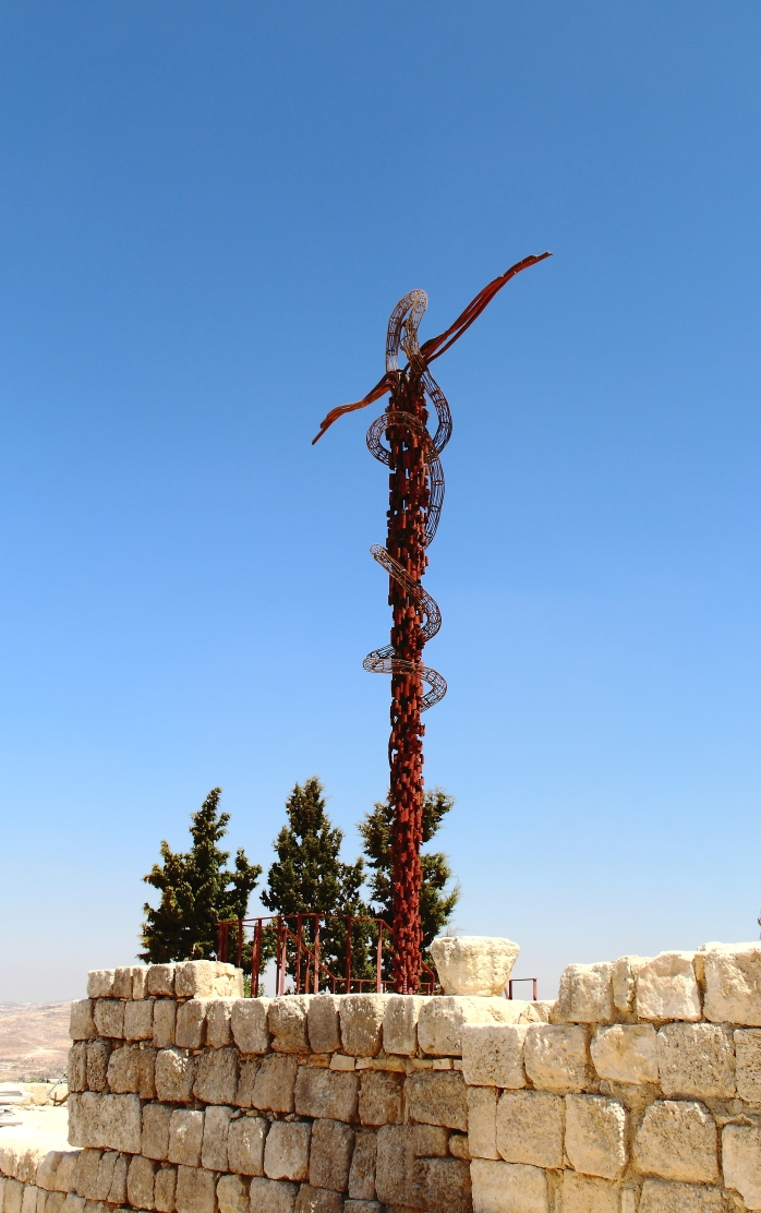 The Hashemite Kingdom of Jordan Photography By Charlotte Farhan Sculpture depicting Moses' Staff on Mount Nebo