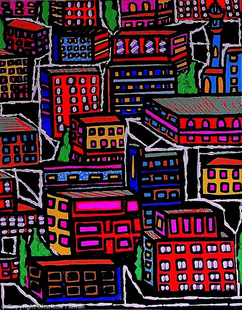Amman cityscape - Rainbow Street - By Charlotte Farhan