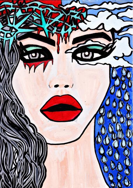 PTSD AWARENESS ART – Pain and Detachment – By CharlotteFarhan