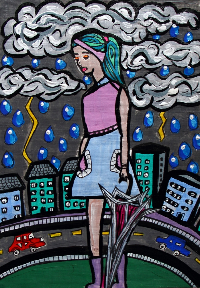 How I long to walk carefree in the rain - By Charlotte Farhan
