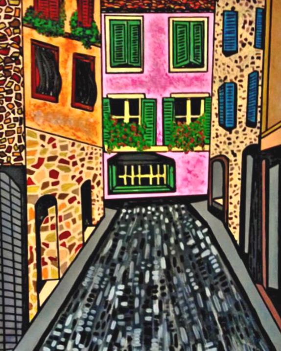 Dans les rues de Grasse - By Charlotte Farhan