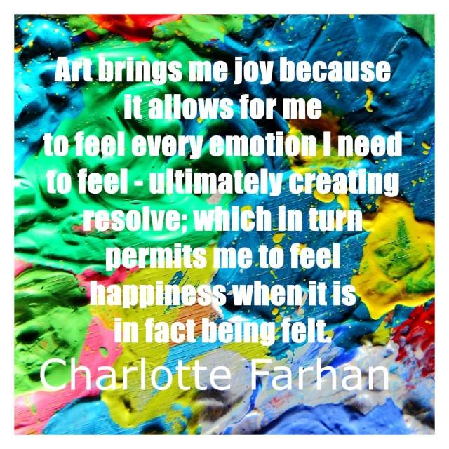 OTV Art and Joy quote Charlotte Farhan