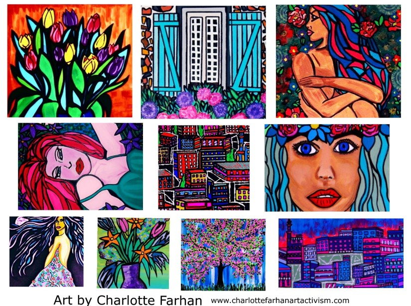 Mental Health Awareness Month: Donate to get an original piece of art by Charlotte Farhan