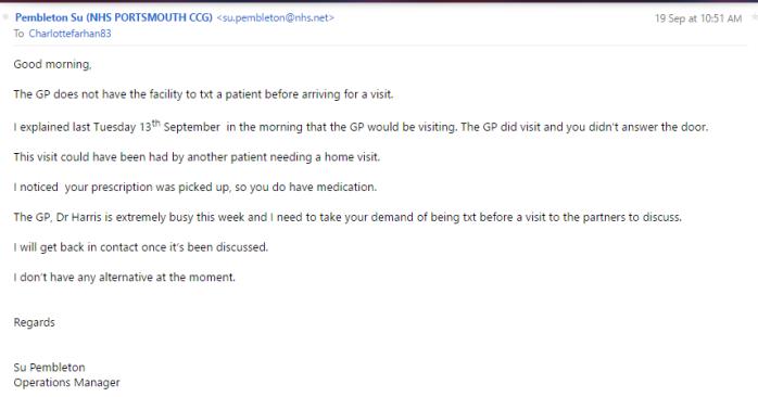 NHS Correspondence