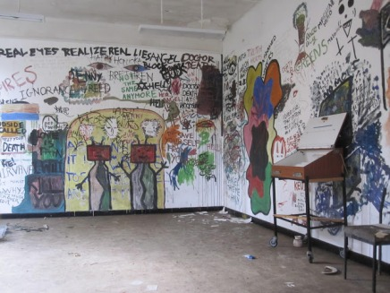 Graffiti by myself and patients from Woodside adolescents unit, at West Park Hospital in Epsom - for art therapy sessions.