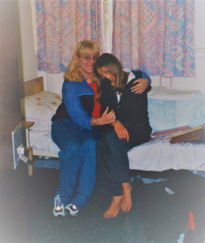 Jenny and Charlotte in 1999 at woodside psychiatric adolescent unit.