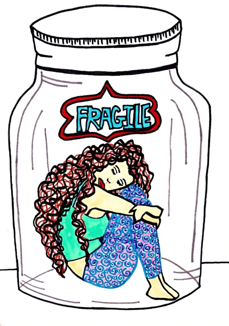 Fragile – Illustration and Poetry By Charlotte Farhan