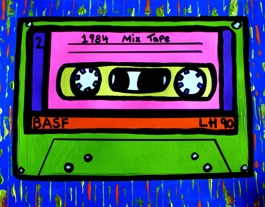 Cassette tape commission - By Charlotte Farhan